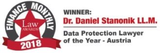 Data Protection Lawyer of the Year Austria Award Daniel Stanonik